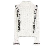 Pullover aus einem Wollgemisch mit Rüschen