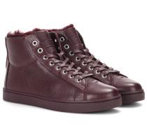 Sneakers Peter aus Leder mit Fell