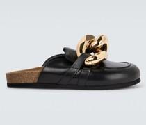 Loafers Curb Chain aus Leder