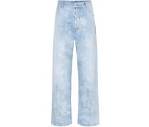 Boyfriend Jeans Mottle High Rise