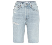 High-Rise Jeansshorts 80s Long