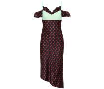 Bedrucktes Kleid aus Satin