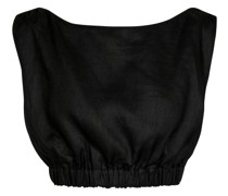 Cropped-Top Madelyn aus Leinen