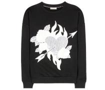 Bestickter Sweater aus Baumwoll-Jersey