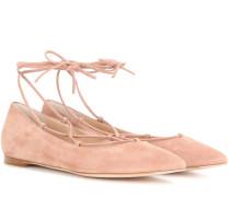 Ballerinas Femi aus Veloursleder