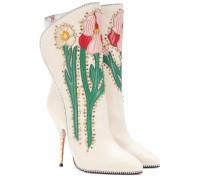 Verzierte Stiefel aus Leder