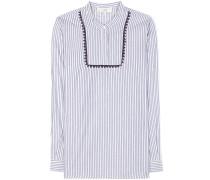 Gestreiftes Hemd aus einem Baumwollgemisch