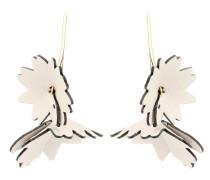 Ohrringe mit Lederblüten