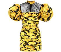 Minikleid aus Satin und Tüll