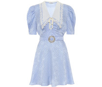 Minikleid aus Seiden-Jacquard