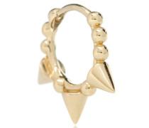 Einzelner Ohrring Triple Spike Clicker aus 14kt Gold