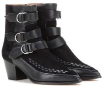 Ankle Boots Dickey aus Veloursleder und Leder