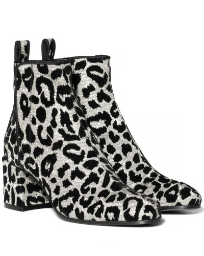 Ankle Boots mit Samt