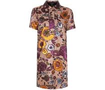 Hemdblusenkleid aus Metallic-Jacquard