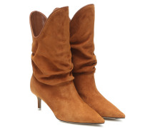 Ankle Boots Tate aus Veloursleder