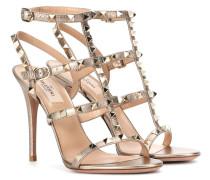 Garavani Sandaletten aus Metallic-Leder