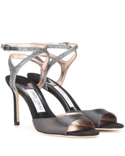 Sandaletten Helen 85 aus Satin und Glitter