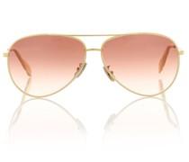 Aviator-Sonnenbrille mit Pochette