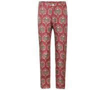 Bedruckte Pyjamahose Tartaro aus Seide