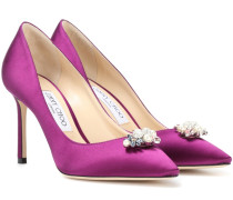 Alexa 85 crystal embellished pumps