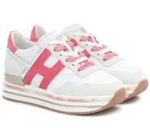Plateau-Sneakers H515 mit Leder