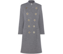 Doppelreihiger Mantel aus Wolle