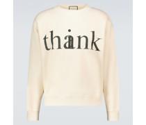 Sweatshirt Think/Thank aus Baumwolle