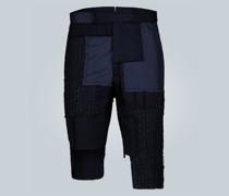 Asymmetrische Shorts aus Wolle