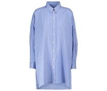 Gestreiftes Oversize-Hemd Sacali aus Seide