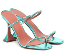 Verzierte Sandalen Gilda aus Leder