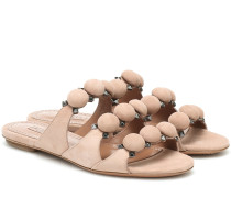 Sandalen Bombe aus Veloursleder