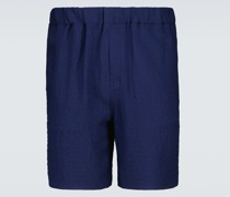 Bermuda-Shorts aus Crêpe