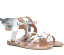 Sandalen Ikaria aus Metallic-Leder