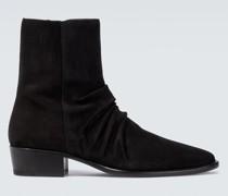 Ankle Boots Stack aus Veloursleder