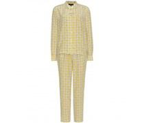 Anya Hindmarch - Zweiteiliger Seiden-Pyjama mit Print