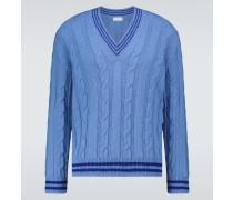 Pullover aus Wolle mit Zopfmuster