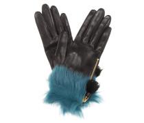 Handschuhe aus Leder mit Pelz