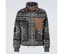 Bedruckte Jacke aus Fleece