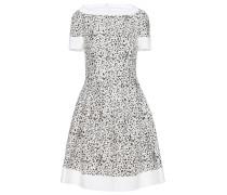 Tweed-Kleid mit Print