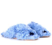 Exklusiv bei mytheresa.com – Pantoletten aus Faux Fur