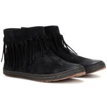 Ankle Boots Shenendoah aus Veloursleder