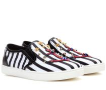 Gestreifte Slip-on-Sneakers Ibiza