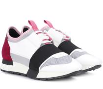 Sneakers Race Runner mit Lederbesatz