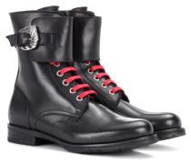 Boots Combat aus Leder