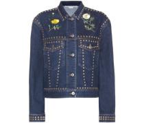 Verzierte Jeansjacke aus Baumwolle