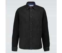 Hemd Stenc aus Jersey und Denim