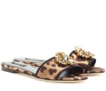 Sandalen Bianca aus Satin