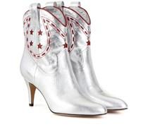 Cowboy-Stiefeletten aus Metallicleder