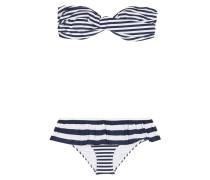 Bikini mit Streifen und Rüschen