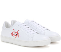 Sneakers Space Invader aus Leder
